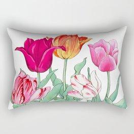 Tulips garden Rectangular Pillow