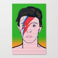 david bowie Canvas Prints featuring David Bowie by Alli Vanes