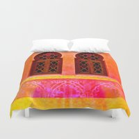 morocco Duvet Covers featuring Morocco  by Xchange Art Studio