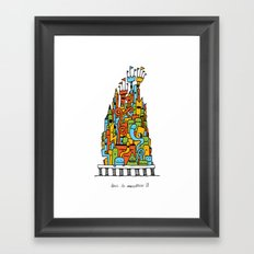 Monster Tower III Framed Art Print