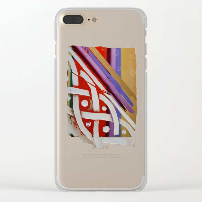 Celtic Knot with Autumn Colors Clear iPhone Case