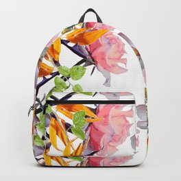 Lush Watercolor Florals Backpack