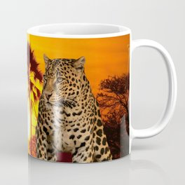 Leopard and Sunset Coffee Mug