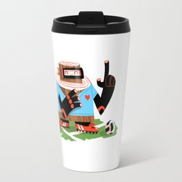 Wooden Robot Valentine Travel Mug