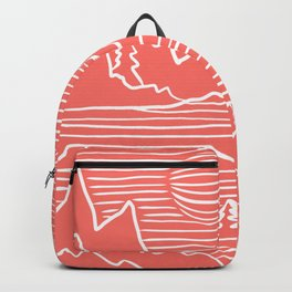 A Perfect Adventure - Outdoor Abstract Living Coral Backpack