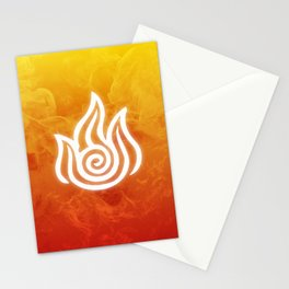 Avatar Fire Bending Element Symbol Stationery Cards