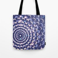 moon phases Tote Bags featuring Moon Phases by Cina Catteau