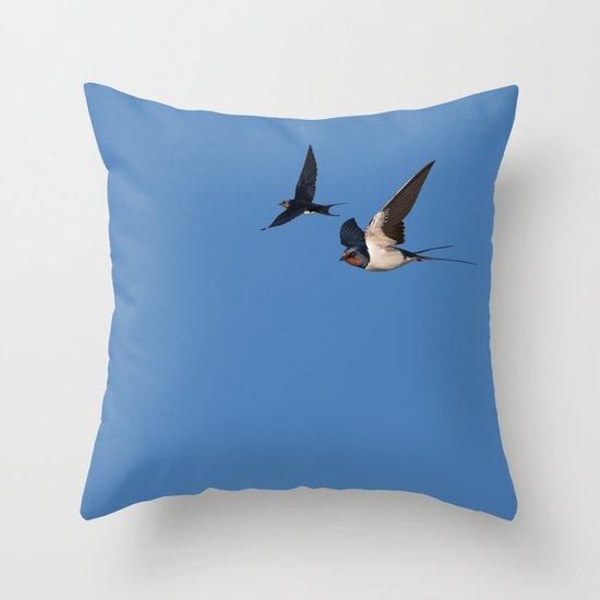 Blue Series #002 ~ Summer (wordless) Throw Pillow