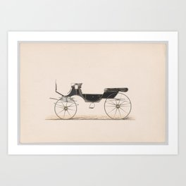 Design for Vis-A-Vis Cabriolet Carriage Art Print