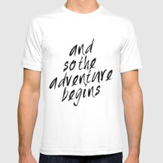 And so the adventure begins Mens Fitted Tee White MEDIUM