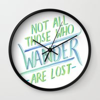 wander Wall Clocks featuring Wander by IndigoEleven