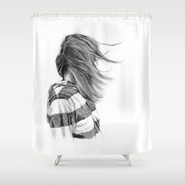 Hair Study #12 (Mono) Shower Curtain