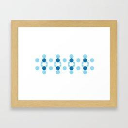 Horizontal Snow Flake Framed Art Print