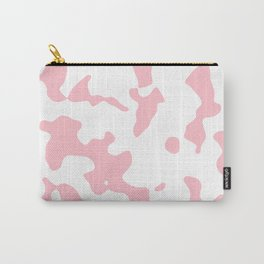 Large Spots - White and Pink Carry-All Pouch