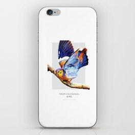 Tropicolygonal Bird iPhone Skin