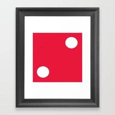 Red Dice 2 Framed Art Print