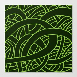 Microcosm in Green Canvas Print