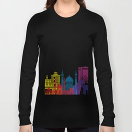 Tehran skyline pop Long Sleeve T-shirt