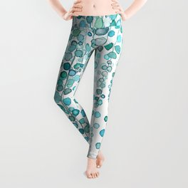 String Of Pearls plants watercolor 2 Leggings