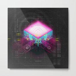 NEON FUTURE II Metal Print