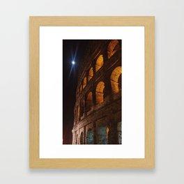 Moonlight over the Colloseum Framed Art Print