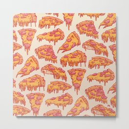 Pizza Pattern Metal Print