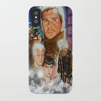 blade runner iPhone & iPod Cases featuring Blade runner by calibos