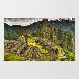 Machu Picchu in Hi-Res HDR landscape photo Rug