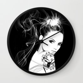 Smoke Girl Wall Clock