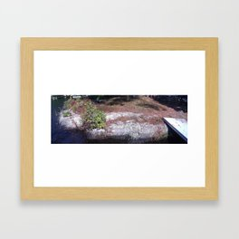 Lake Stone Framed Art Print