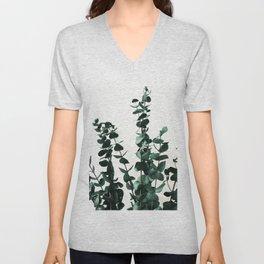 Eucalyptus Dark Green Unisex V-Neck