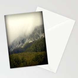 Snow peaked Alpine Ranges Stationery Cards