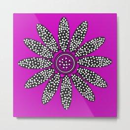 Daisy dots purple Metal Print