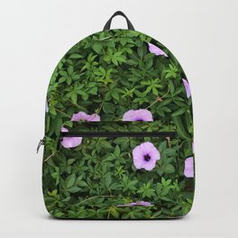 Purple Floral Wall  Backpack