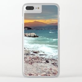 on the beach after the storm, Croatia Clear iPhone Case
