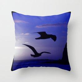 the double bird blues Throw Pillow