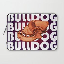 Bulldog Skull Laptop Sleeve