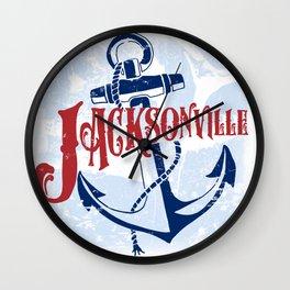 Jacksonville Anchor Wall Clock