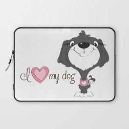 BellaRina - I Love My Dog Laptop Sleeve
