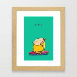Relax   #happyman Framed Art Print