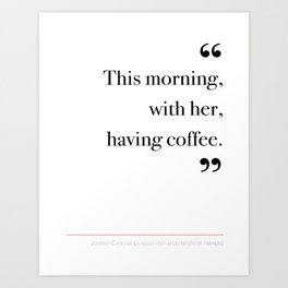 With her, having coffee Art Print