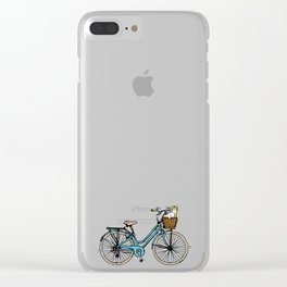 bike and Cats Clear iPhone Case