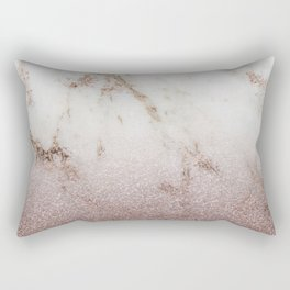 Burgundy glow - marble glitter gradient Rectangular Pillow