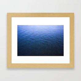 Blue Elbe Framed Art Print