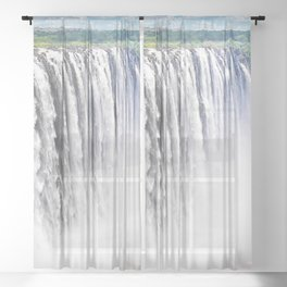 Zimbabwe, Africa - Victoria Falls Sheer Curtain