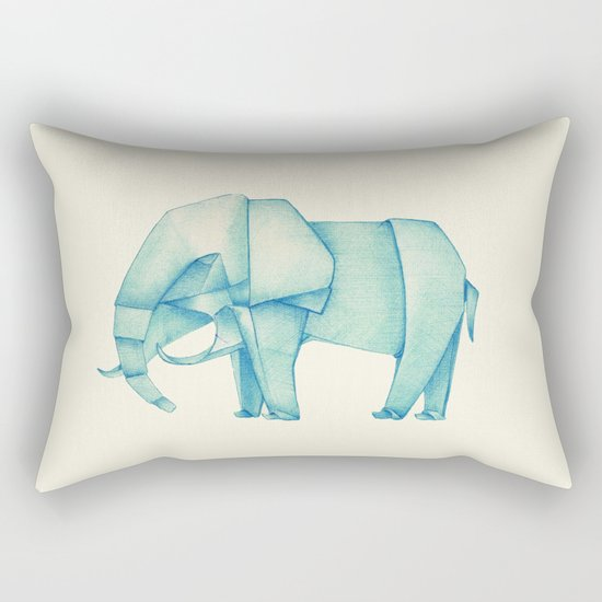 Paper Elephant Rectangular Pillow