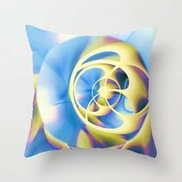 Surreal Abstract Orbs Spheres Throw Pillow