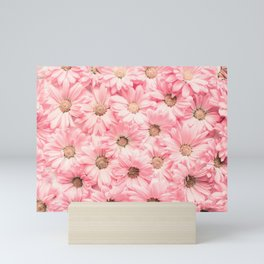 Lovely Pink Daisies Mini Art Print