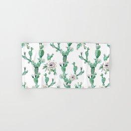 Cactus Rose Climb on White Hand & Bath Towel