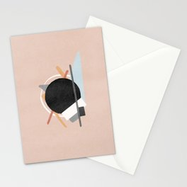 Black hole on white and gray support Stationery Cards
